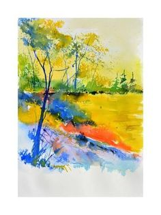 Art Print: Watercolor 516082 by Pol Ledent : 24x18in
