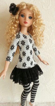 """Salstuff  (UK)  - Mini Dress & Leggings Set for Ellowyne Wilde Tonner Doll 16"""" - like bjd"""