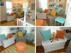 Precious Baby Nursery! (from icecreamoffpaperplates.wordpress.com, and featured at http://projectnursery.com/projects/baby-ks-bright-nursery/)