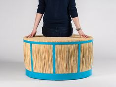 juan cappa's basketlamp + straw stool reference traditional craft techniques and materials