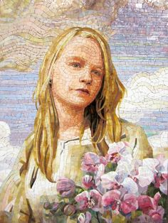 Finished Mosaic portrait, by painter and mosaic artist Pavel Martushev on Behance.