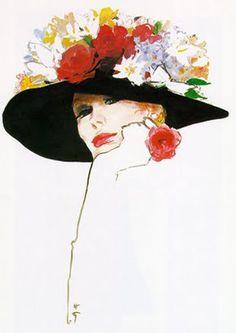 René Gruau (1909-2004) — Study for Dior, 1983 (1075×1520)