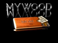Personalized Credit Card Holder Slim Wallet by MyWoodWallets