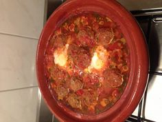 Tajine Gehaktballetjes Met Ei recept | Smulweb.nl Tapas, Paleo Recipes, Cooking Recipes, Mince Meat, Special Recipes, Other Recipes, No Cook Meals, Love Food, Slow Cooker