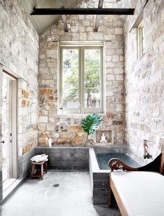 concrete tub + brick