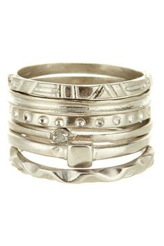 Marcia Moran Assorted Ring Stack by Non Specific on @HauteLook