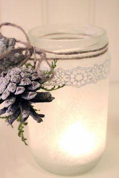 Bara Det Ljuvligaste: Vintermys Winter Centerpieces, Jar, Candles, Advent, Christmas, Decor, Xmas, Decoration, Candy