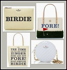 kate spade golf collection bags (jadeoak.com)    I have the birdie clutch already :)