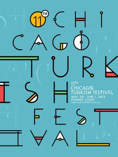 The official event poster and the alternate designs for the 11th Chicago Turkish Festival.