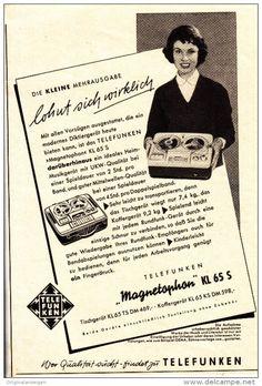 Original-Werbung/Anzeige 1959 - TELEFUNKEN MAGNETOPHON KL 65 S TONBAND-GERÄT - ca. 110 x 160 mm