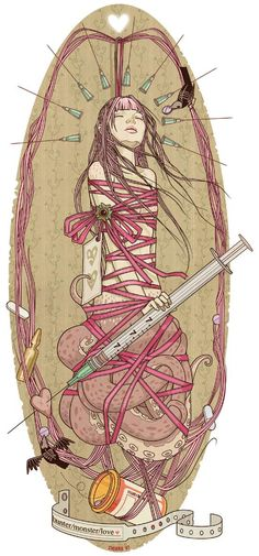 Chiara Bautista aka Milk. Let's see...Tentacles. Syringes. Pillbottle. *I* could've drawn this! Man, this may be my next album art.