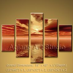 handmade oil paintings on canvas. It is very nicely done oil painting Sunset in Contemporary style. This painting is painted with great skill, masterful brush strokes by our talented artist. Large Abstract Wall Art, Modern Canvas Art, Modern Art Paintings, Seascape Paintings, Large Wall Art, Contemporary Wall Decor, Modern Wall Art, Modern Contemporary, Panel Wall Art