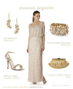 Sequined bridesmaid dress style idea. See 20+ more sequin styles here: http://www.dressforthewedding.com/sequined-bridesmaid-dress/
