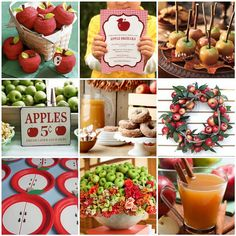 An Apples, Apples! Themed Party Inspiration Board