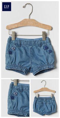 1969 denim sailor bubble shorts