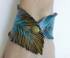 Faux Leather Bracelet- 25 DIY Feather Jewelry Design | DIY to Make