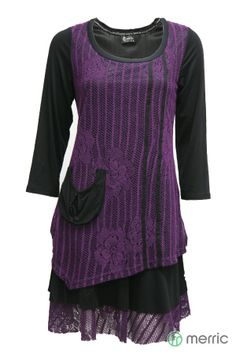 Merric - Home - fancy fabric double layer tunic