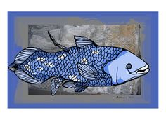 Coelacanth ... Fish or Fossil by AnimalDreams on Etsy