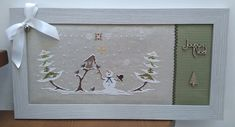 Christmas Picture Frames, Christmas Pictures, Christmas Tree Pattern, Christmas Cross, Cross Stitch Charts, Cross Stitch Patterns, Cross Stitching, Cross Stitch Embroidery, Theme Noel