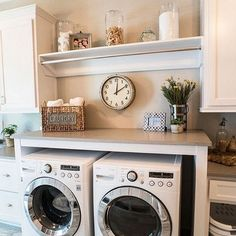 It's #Monday friends!!! We had an early morning doctors appt for my 9 month olds checkup and the rest of the day will be spent catching up on laundry... loving this inspiration space- lots of countertop folder space, cute organization and lots of cabinet storage also... from Pinterest.   #farmhouse #farmhouseinspo #farmhouselaundry #laundry #laundryroom #laundryday #laundrydecor #fixerupperstyle #fixerupperfanatic #fixerupperinspired