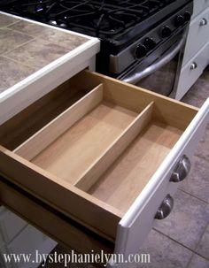 Do it Yourself Drawer Organizers {DIY Kitchen Organization} - bystephanielynn