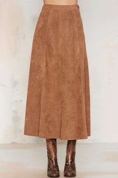 Suede Maxi Skirt