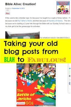 How to update your old blog posts so that you can reshare them and reach a new audience.