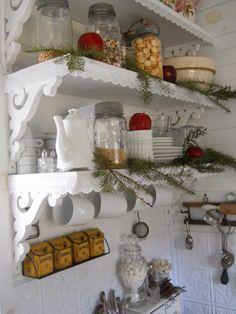 little tins on wall & shelf design