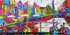 stadsgezicht - www.vrolijkschilderij.nl