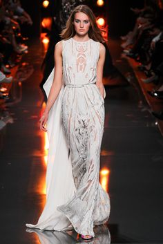 Elie Saab Spring 2015 sheer white dress