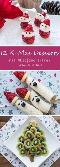 Dieses Jahr solls ein gesundes Weihnachtsessen werden? Unsere Desserts zu Weihnachten sind kreativ, gesund und auch bestens für Kinder geeignet. Weil tolle Weihnachtsdesserts auch ohne Zucker richtig lecker sein könne. #Weihnachten #Dessert