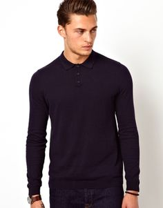 ASOS Polo Neck Jumper In Cotton