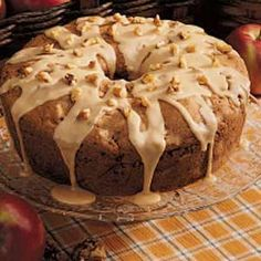 Caramel Apple Cake. A great way to say hello to Fall (and the holiday baking season)