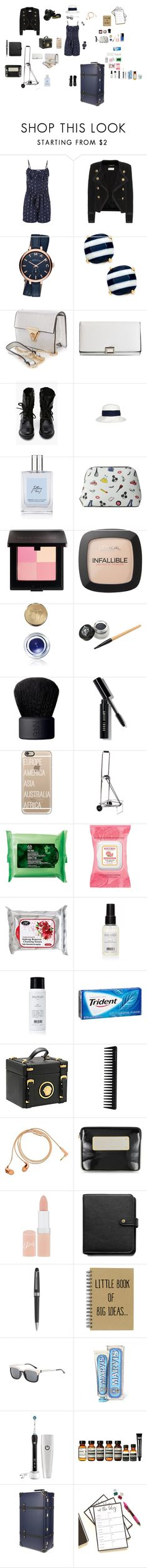 """travel essentials"" by favos ❤ liked on Polyvore featuring maurices, Yves Saint Laurent, Marc Jacobs, Kate Spade, Rebecca Taylor, philosophy, Alice + Olivia, Laura Mercier, L'Oréal Paris and Bobbi Brown Cosmetics"
