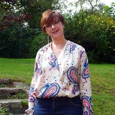 SOIshowoff September: First outing for my Sew Over It Anderson blouse.