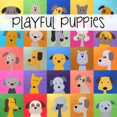 Playful Puppies Quilt Pattern