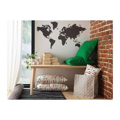 KLÄTTA Decorative stickers, chalkboard world
