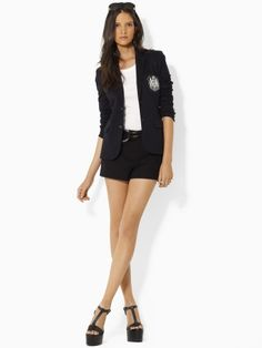 This blazer is amazing! It is so classy and sexy at the same time! It is the Ralph Lauren Rhonda Cotton Blazer (Blue Label)