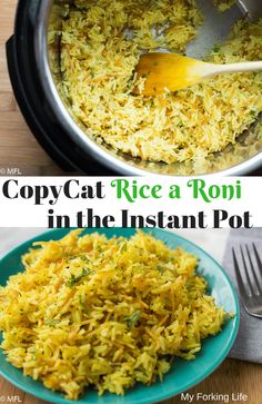 This Copycat Rice a Roni recipe is even better than the boxed version. This Copycat Rice a Roni recipe is even better than the boxed version. Make it in the Instant Pot Pressure Cooker for a hands off quick, easy, and healthy side dish. Pressure Cooker Rice, Instant Pot Pressure Cooker, Pressure Cooker Recipes, Pressure Cooking, Pressure Pot, Slow Cooker, Easy Cooking, Cooking Recipes, Healthy Recipes
