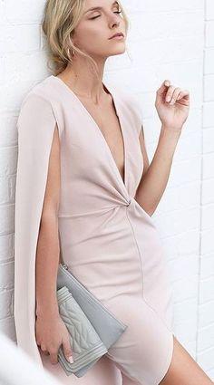 #beginningboutique #label #outfits | Blush Cape Dress