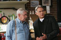 Jethro Gibbs (Mark Harmon) and Jackson Gibbs (Ralph Waite, R.I.P.)