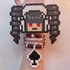 Pearler Beads, Fuse Beads, Kawaii Jewelry, Cute Jewelry, Diy Kandi Bracelets, Anime Diys, Pop Tab Crafts, Diy Crafts Jewelry, Perler Patterns