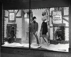 Department stores used to have window display departments whose sole task was the conception, design and installation of elaborate window scenes. Browse through