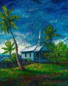 Robert Lyn Nelson  24x36 Oil Painting  Kona,Hawaii #art  #vangoghstyle #impressionist  @robertlynnelson.com