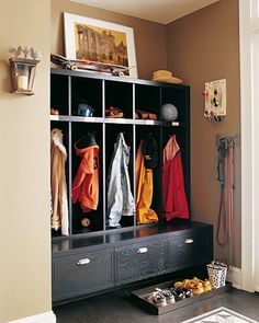 mudroom cubbies.