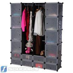 Elegant DIY Kleiderschrank Standregal Garderobe W scheschrank mit Schubladen Gr n LPCG DIY Cube Pinterest Diy kleiderschrank Schubladen und Kleiderschr nke