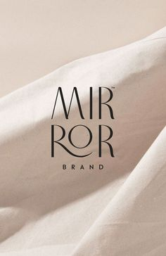 MirrorBrand branding and design by We Are Branch #branding #brandidentity #logo #logodesign #design Design Typography, Typography Logo, Logo Branding, Brand Logo Design, B Logo, Design Logos, Graphic Design Branding, Graphic Designers, Photography Packaging