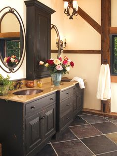 Rustic Eclecticism Bathroom Redesign: New Hope, PA :: view 2 of 4