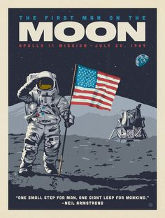 Anderson Design Group - peter neuhaus - Anderson Design Group Anderson Design Group – Space Travel – First Man On The Moon - Bedroom Wall Collage, Photo Wall Collage, Wall Art, A4 Poster, Poster Prints, Plakat Design, Space Illustration, Vintage Space, Vintage Ads