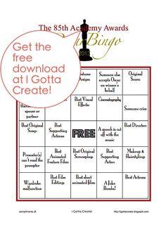 I Gotta Create!: Oscar Bingo! party game download